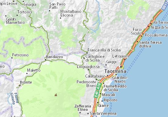 Castiglione di Sicilia Map