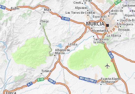 Librilla Map