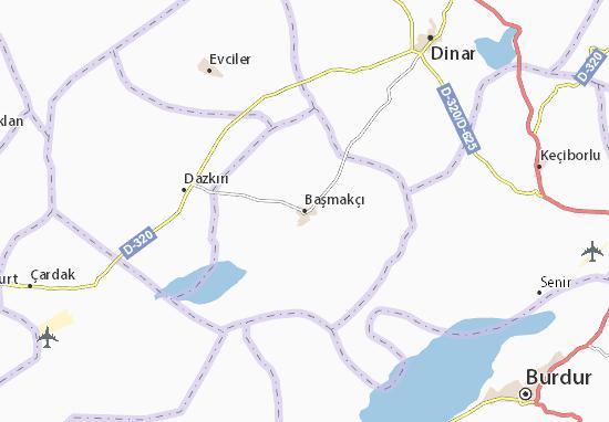 Başmakçı Map