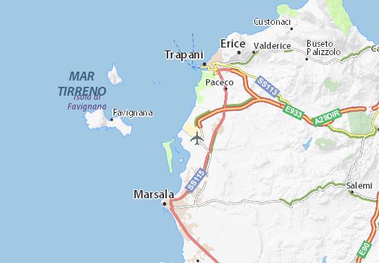 Aeroporti In Sicilia Cartina.Mappa Michelin Aeroporto Di Trapani Birgi Pinatina Di Aeroporto Di Trapani Birgi Viamichelin