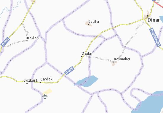 Dazkırı Map
