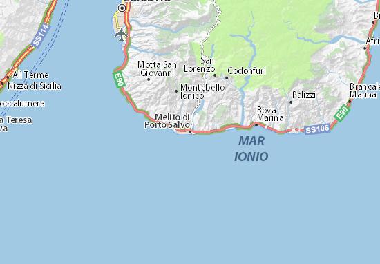 Melito di Porto Salvo Map