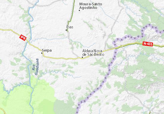Carte-Plan Vila Nova de São Bento