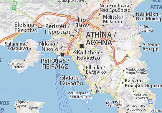 Map Of Agios Dimitrios Michelin Agios Dimitrios Map Viamichelin