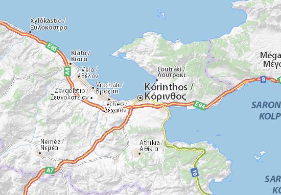 Mapa Plano Kórinthos