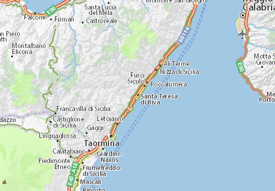 Santa Teresa di Riva Map