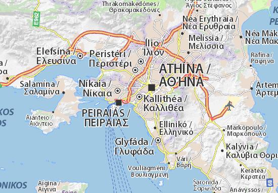 Kallithéa Map
