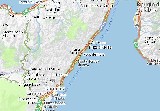 Furci Siculo Map