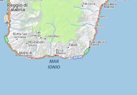 Palizzi Map
