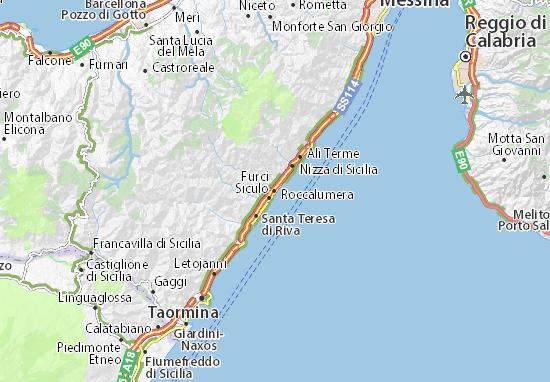 Carte-Plan Roccalumera