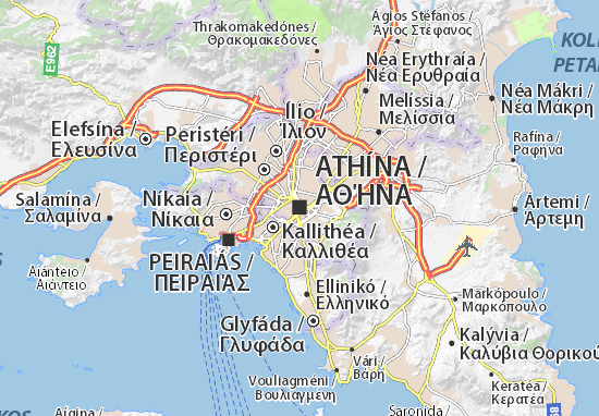 Map of Athens Michelin Athens map ViaMichelin – Athens Tourist Attractions Map