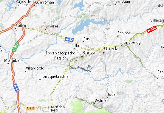 Karte Stadtplan Baeza