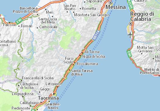 Carte-Plan Nizza di Sicilia