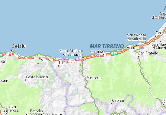 Santo Stefano di Camastra Map