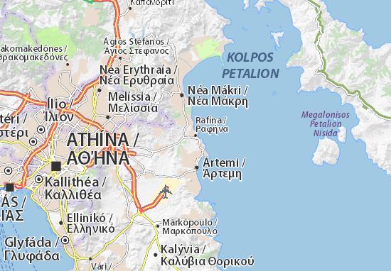 Mapa Plano Rafína