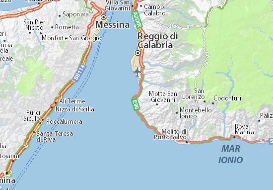 Reggio Calabria Cartina Geografica.Mappa Michelin Pellaro Pinatina Di Pellaro Viamichelin