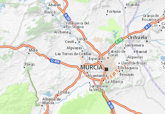 Carte-Plan Las Torres de Cotillas