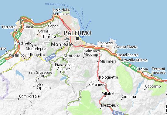 Mapas-Planos Belmonte Mezzagno