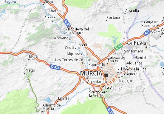Carte-Plan Alguazas