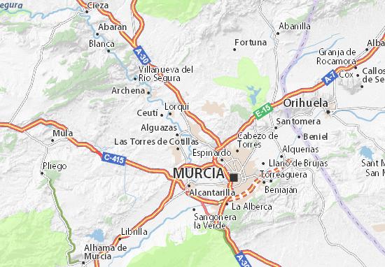 Molina de Segura Map