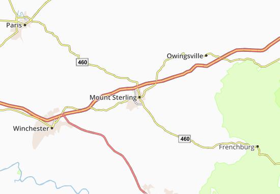 Carte-Plan Mount Sterling