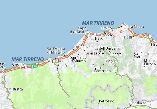 Carte-Plan San Marco d'Alunzio
