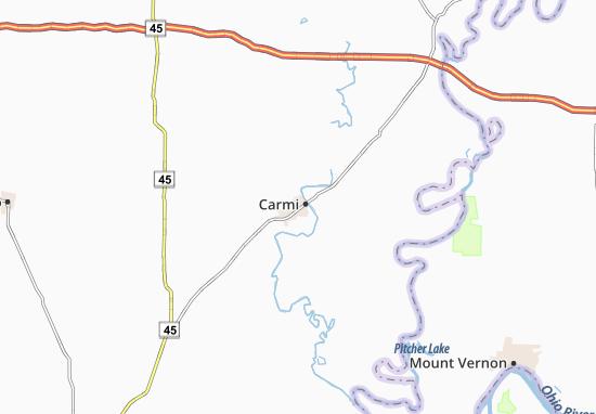 Map Of Carmi Michelin Carmi Map Viamichelin