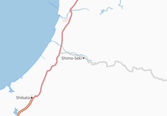 Kaart Plattegrond Shimo-Seki