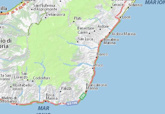 Caraffa del Bianco Map