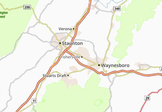 Fishersville Map