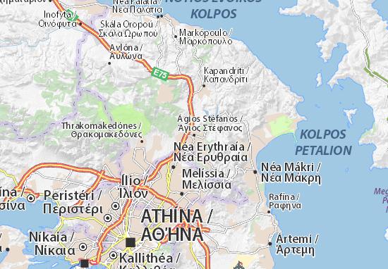 Carte-Plan Ágios Stéfanos
