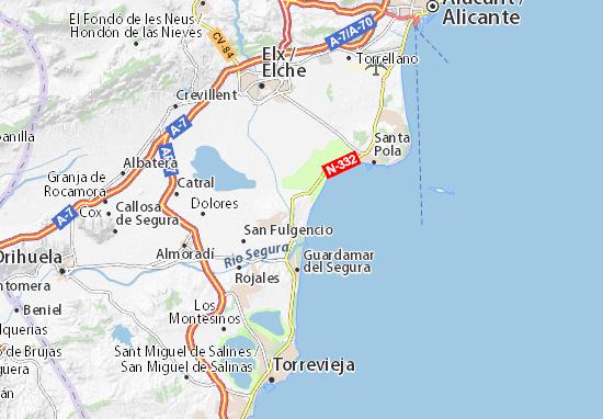 Mapa Guardamar Del Segura.Mapa La Marina Plano La Marina Viamichelin