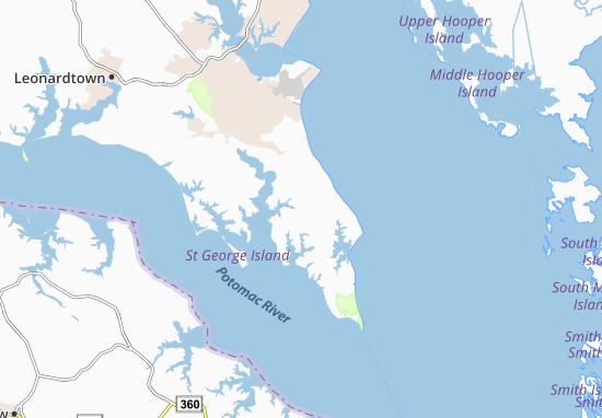 Saint Inigoes Map