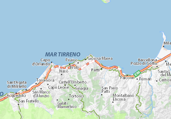 Gioiosa Marea Map: Detailed maps for the city of Gioiosa Marea ...