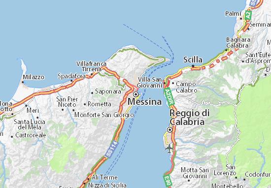 Kaart Plattegrond Messina