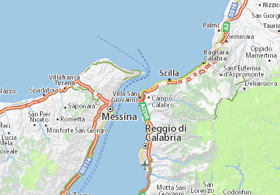 Cartina Geografica San Giovanni Rotondo.Mappa Michelin Villa San Giovanni Pinatina Di Villa San Giovanni Viamichelin