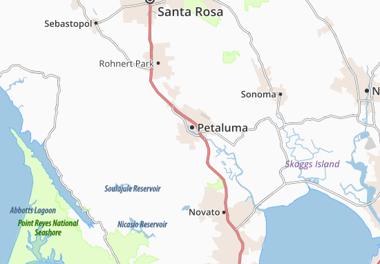 Carte-Plan Petaluma