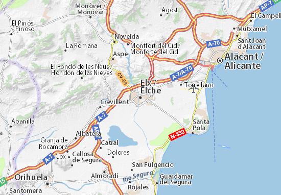 Elche Map