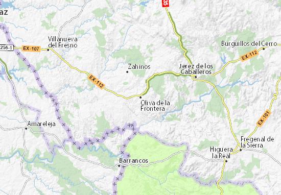 Mapas-Planos Oliva de la Frontera