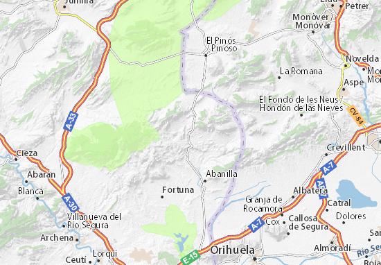 Mapa Molina De Segura.Mapa El Algarrobo Plano El Algarrobo Viamichelin