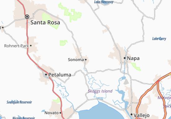 Mapa Sonoma