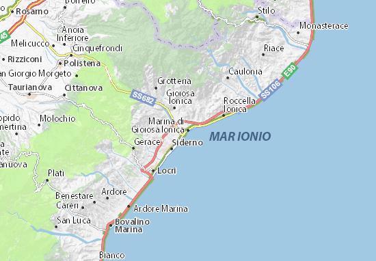 Mapas-Planos Marina di Gioiosa Ionica