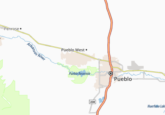 Map Of Pueblo West Michelin Pueblo West Map Viamichelin