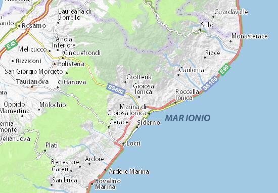 Mapas-Planos Gioiosa Ionica