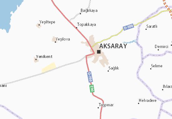 Kaart Plattegrond Aksaray