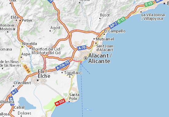 Carte-Plan Alicante