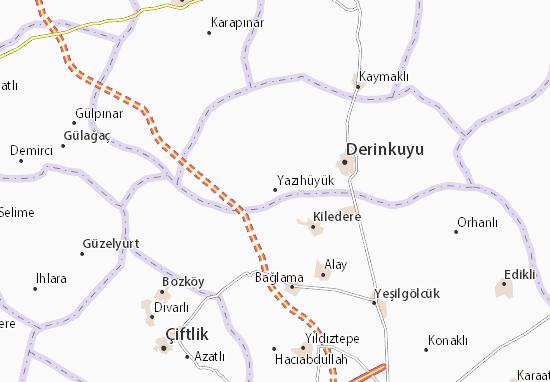 Yazıhüyük Map