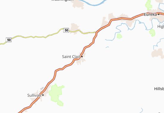 Saint Clair Map