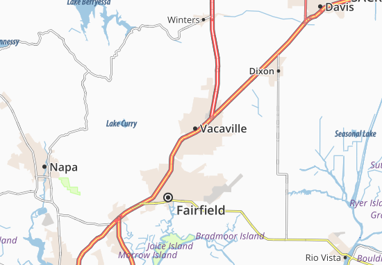 Map Of California Vacaville.Map Of Vacaville Michelin Vacaville Map Viamichelin