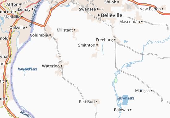 Karte Paderborn.Karte Stadtplan Paderborn Viamichelin